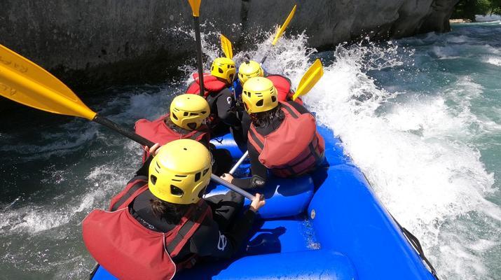 Rafting-Samoëns, Le Grand Massif-Rafting descent of Giffre river in Samoens-3