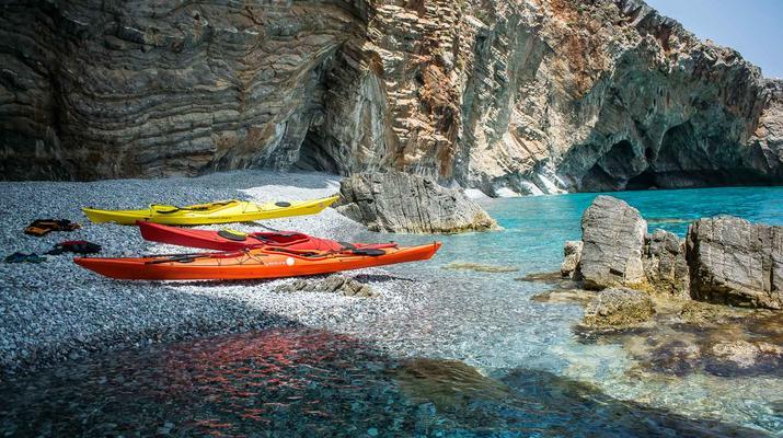 Seekajak-Sfakia-Seekajak-Ausflug vom Strand Loutro bei Sfakia-1
