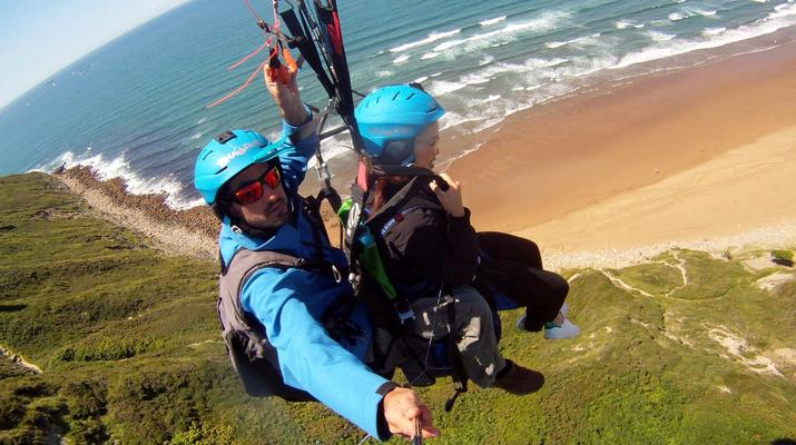 Paragliding-Biscay-Tandem Paragliding flight from Sopelana, Biscay-1