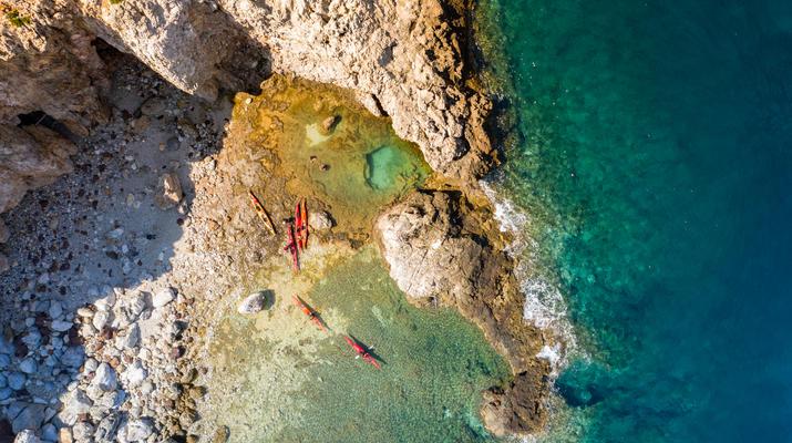 Seekajak-Heraklion-Seekajakausflug vom Bali Beach bei Rethimno-1