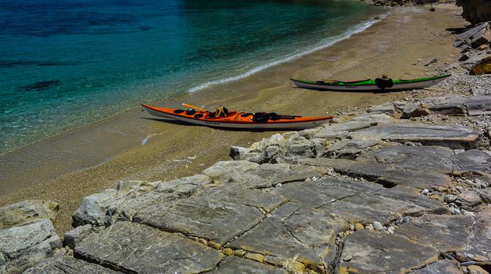 Seekajak-Chania-Seekajak-Ausflug vom Strand von Kalyves bei Chania-2