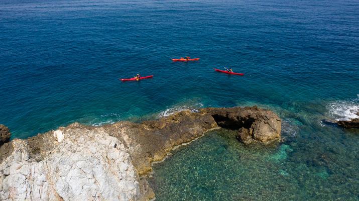 Seekajak-Heraklion-Seekajakausflug vom Bali Beach bei Rethimno-3
