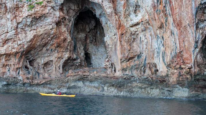Seekajak-Chania-Seekajak-Ausflug vom Strand von Kalyves bei Chania-1