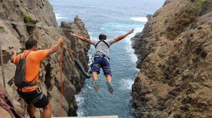 Bungee Jumping-Las Palmas de Gran Canaria-Rope Swinging (28 m) from La Calzada Bridge near Las Palmas de Gran Canaria-2