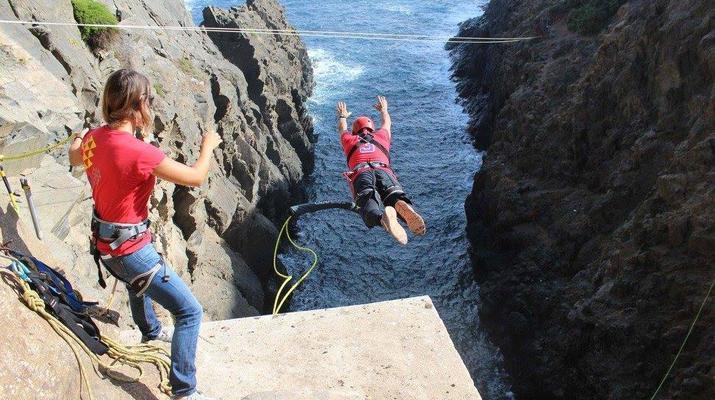 Bungee Jumping-Las Palmas de Gran Canaria-Rope Swinging (28 m) from La Calzada Bridge near Las Palmas de Gran Canaria-6