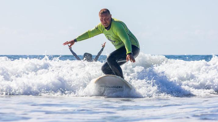 Surfing-Maspalomas, Gran Canaria-Surfing lessons in Playa del Ingles, near Maspalomas-1
