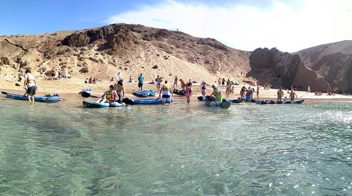 Sea Kayaking-Playa Blanca, Lanzarote-Kayak & Snorkel excursion to Playa Papagayo, Lanzarote-10
