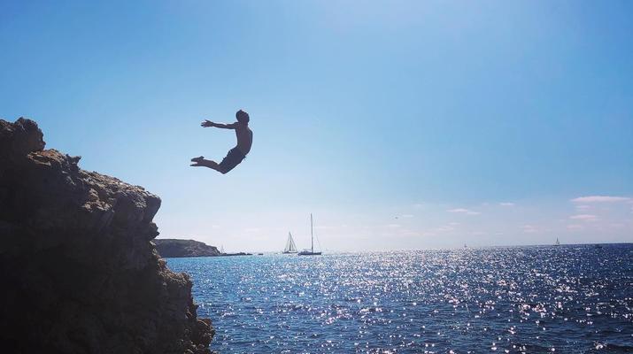 Kayak de mer-Palma, Majorque-Excursion en kayak, plongée en apnée et saut de côte à partir d'Illetas, Majorque-2