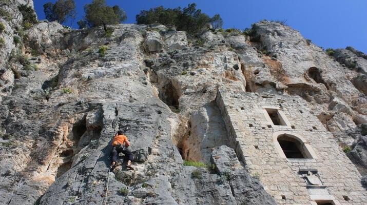Rock climbing-Split-Rock climbing on Marjan Hill right outside of Split-2