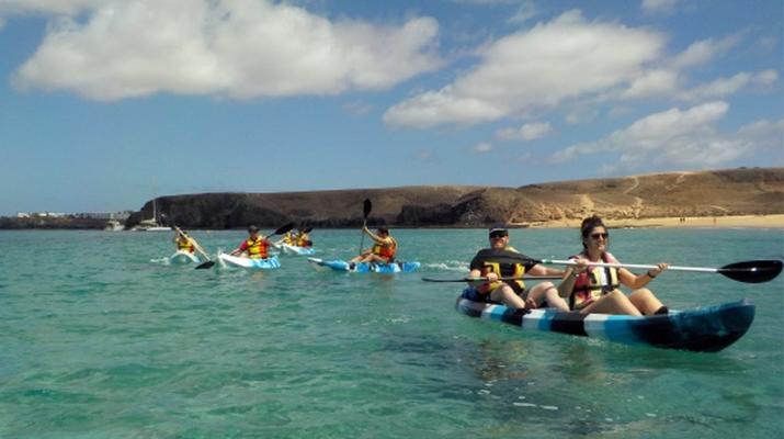 Sea Kayaking-Playa Blanca, Lanzarote-Kayak & Snorkel excursion to Playa Papagayo, Lanzarote-16