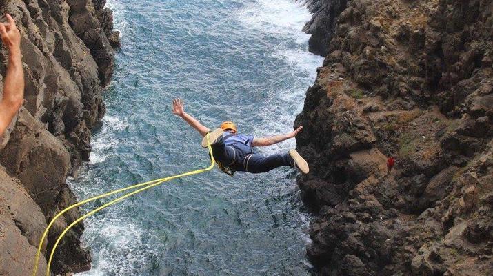 Bungee Jumping-Las Palmas de Gran Canaria-Rope Swinging (28 m) from La Calzada Bridge near Las Palmas de Gran Canaria-5