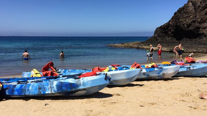 Sea Kayaking-Playa Blanca, Lanzarote-Kayak & Snorkel excursion to Playa Papagayo, Lanzarote-12