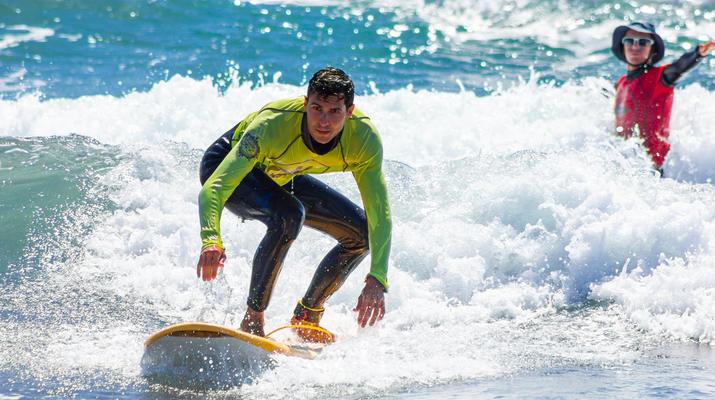 Surfing-Maspalomas, Gran Canaria-Surfing lessons in Playa del Ingles, near Maspalomas-2