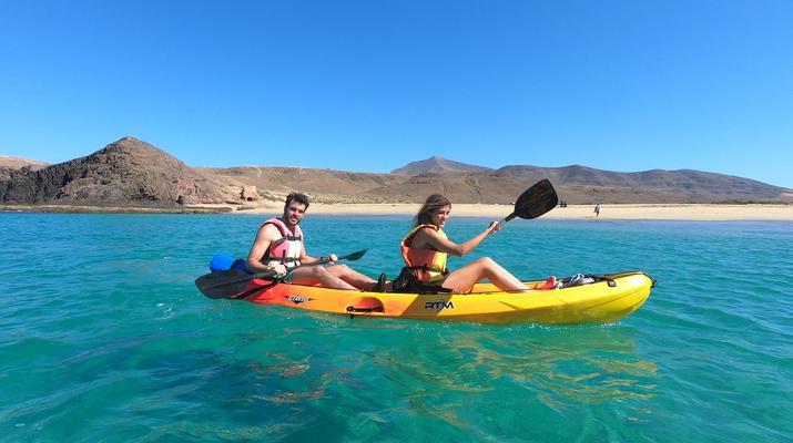 Sea Kayaking-Playa Blanca, Lanzarote-Kayak & Snorkel excursion to Playa Papagayo, Lanzarote-1