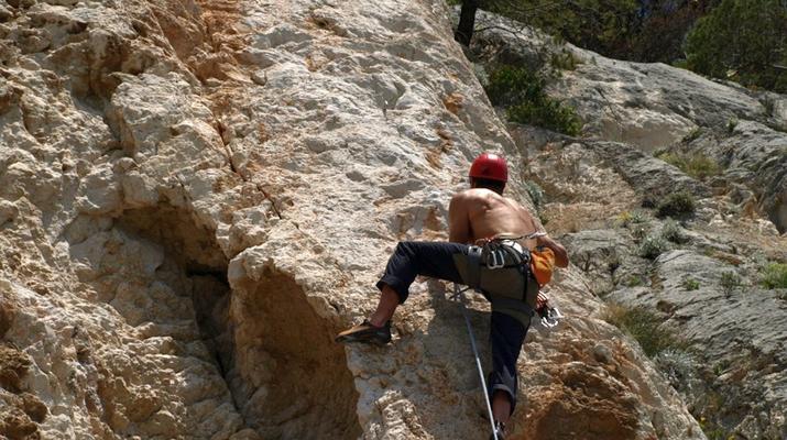 Rock climbing-Split-Rock climbing on Marjan Hill right outside of Split-5