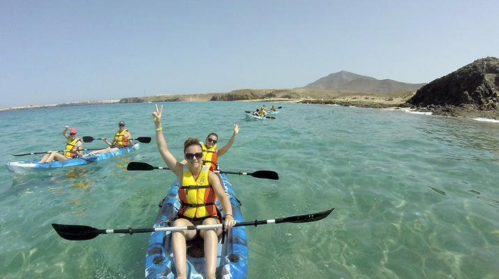 Sea Kayaking-Playa Blanca, Lanzarote-Kayak & Snorkel excursion to Playa Papagayo, Lanzarote-13