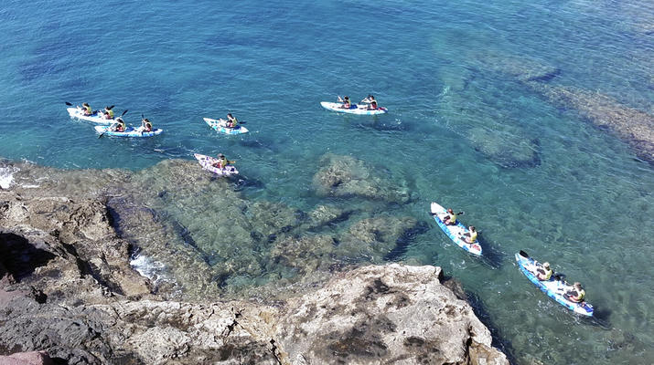 Sea Kayaking-Playa Blanca, Lanzarote-Kayak & Snorkel excursion to Playa Papagayo, Lanzarote-5