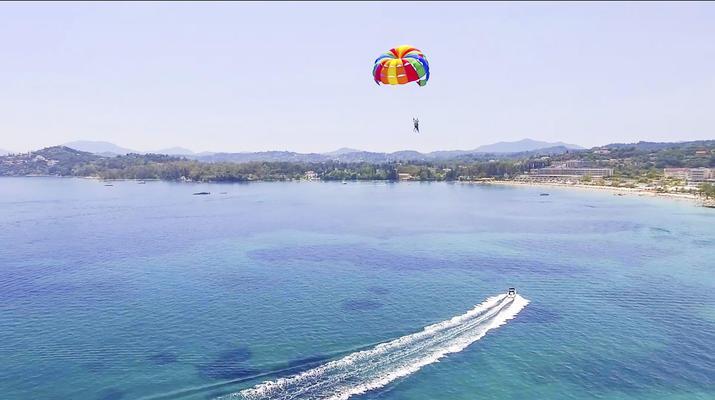 Parasailing-Corfu-Parasailing flight in Dassia beach, Corfu-4