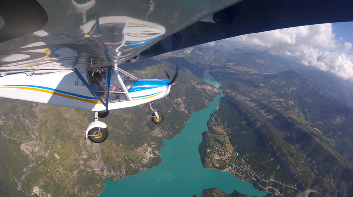 U.L.M-Gorges du Verdon-Vol en ULM au dessus du lac de Castillon, Verdon-1