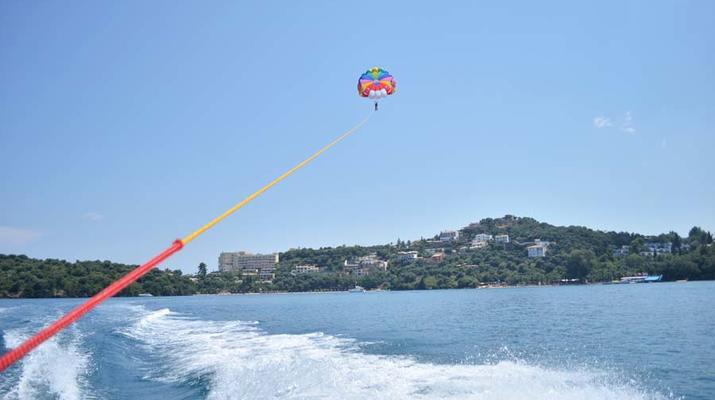 Parasailing-Corfu-Parasailing flight in Dassia beach, Corfu-2