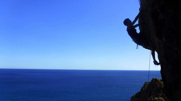 Rock climbing-Gortyn-Rock Climbing Session near Lentas in Southern Crete-3
