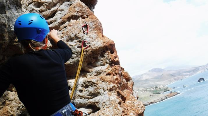Rock climbing-Gortyn-Rock Climbing Session near Lentas in Southern Crete-1