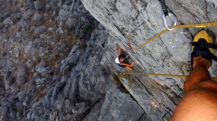 Rock climbing-Gortyn-Rock Climbing Session near Lentas in Southern Crete-6
